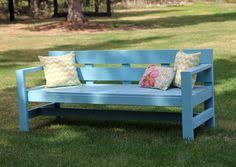 Easy Wood Bench Plans by Ana White Build A Modern Park Bench Free And Easy Diy Project