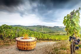 40 fire pit vin de flame the moderna wine barrel fire pit table 40