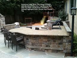 Exposed Aggregate Patio Stones Materials Walls