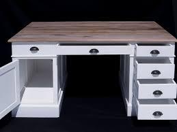 Schreibtisch Mit Computertisch Schreibtisch Computertisch Büromöbel Weiß Teak Naturfarbene