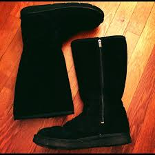 ugg s zip boots 75 ugg boots black with zipper uggs from