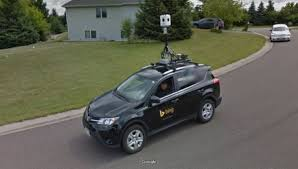 google images car when a google street view car meets a bing car only one can survive