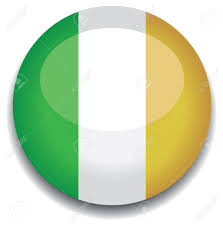 ireland flag in a button royalty free cliparts vectors and stock