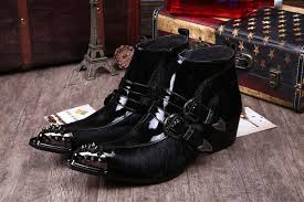 europe and america luxury mens fashion dress shoes boots brand