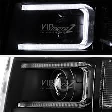 neon optic tube 2007 2013 chevy silverado black projector halo
