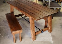 kitchen farmhouse dining table with bench oval farmhouse table