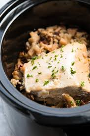 simple thanksgiving turkey recipe slow cooker turkey breast with apples and wild rice