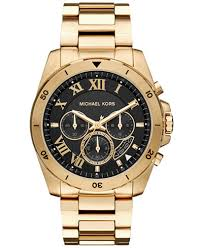 gold tone stainless steel bracelet images Michael kors men 39 s chronograph brecken gold tone stainless steel tif