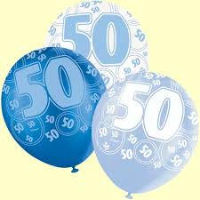 50th birthday balloons 50th birthday balloons blue glitz pack of 6 party wizard