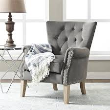 Gray Accent Chair Living Room Accent Chairs Bassett Furniture Inside Occasional With
