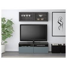 Ikea Besta Glass Doors by Bestå Tv Storage Combination Glass Doors Black Brown Lappviken