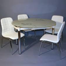 table de cuisine en verre pas cher table ronde de cuisine table de cuisine ronde en stratifiac
