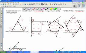 Interior Angles Of Polygon Sum Of Exterior Angles In A Polygon Part 1 Youtube