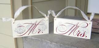 Wedding Chair Signs Mr U0026 Mrs Signs Bitsy Bride