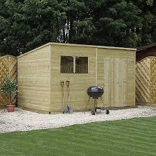 Garden Summer Houses Scotland - 14 x 8 pressure treated tongue and groove pent shed waltons sheds