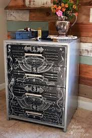painting metal file cabinets enchanting chalk paint on metal filing cabinet with file cabinet