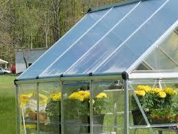 Palram Polycarbonate Greenhouse Palram Hybrid 6 X 10 Twin Wall Silver Canada Greenhouse Kits
