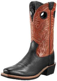 ariat s boots size 12 ariat s 12 heritage roughstock cowboy boots buckboard black