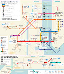 Metro Map Chicago by New Jersey To Nyc Bus Subway Ferry Shuttle Map New Jersey