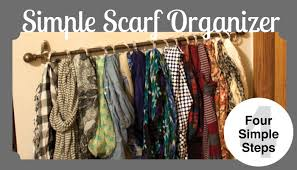 How To Hang A Valance Scarf by Easy Hanging Scarf Organization One Hour U0026 20 Small Stuff Counts