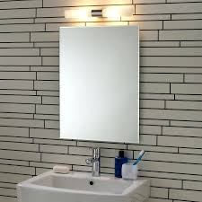 Contemporary Vanity Mirrors Bathrooms Design Lighted Bathroom Wall Mirror Brushed Nickel