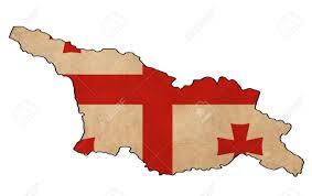 Georgia Flag Georgia Map On Georgia Flag Drawing Grunge And Retro Flag Series