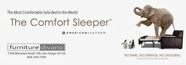 Comfort Sleeper American Leather Leather Comfort Sleepers At Miramar Rd San Diego