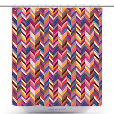 Funky Curtains by Us 29 86 Decorative Shower Curtain Abstract Funky Leaf Shapes