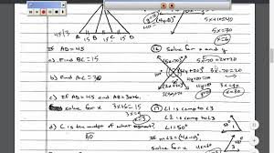 geometry chapter 2 test review video youtube
