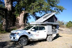 Ford Ranger Truck Bed Camper - rent a ford ranger double cab 4x4 luxury safari camper u2022 4x4