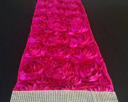 pink rosette table runner tulle sequin flower table runner