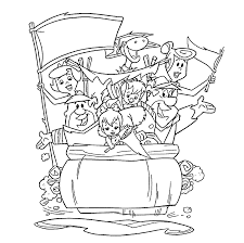 funny flintstones coloring pages kids printable free