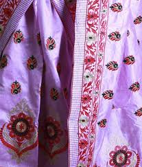 Buy Violet Embroidered Art Silk S Kiran U0027s Violet Art Silk Mekhela Chador Buy S Kiran U0027s Violet