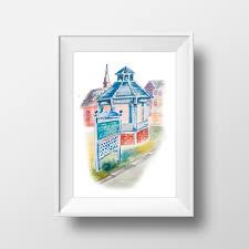 wall art watercolor stars hollow printgilmore girls