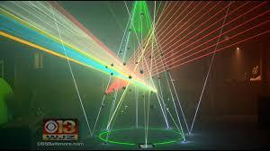 Christmas Laser Light Show Laser Light Show Spectacular Illuminates The Inner Harbor Cbs