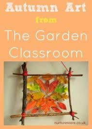 Simple Fall Crafts For Kids - autumn art from the garden classroom autumn art contact paper