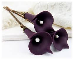 purple calla lilies purple calla hair pins purple calla hair