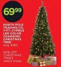 Color Changing Christmas Trees - north pole trading co 7 ft cyprus led color changing christmas