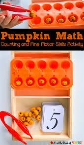 halloween pumpkin halloween pumpkin counting and fine motor skills activity