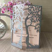 online get cheap silver wedding invitations aliexpress com