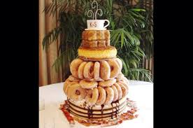 donut cake from 10 unusual wedding cakes slideshow