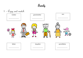family worksheet free worksheets library download and print