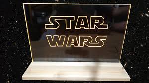 sign decor how to make acrylic led wars edge light sign emblem