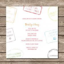 Bridal Invitation Cards Travel Themed Bridal Shower Invitations Travel Themed Bridal