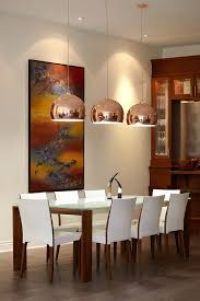 Frosted Glass Dining Table Dining Room Modern With Beamed Ceiling - Pendant lighting for dining room