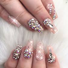 202 best bling nails images on pinterest coffin nails