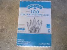 holiday time christmas lights holiday time 100 count cool white led smooth m5 lights with white