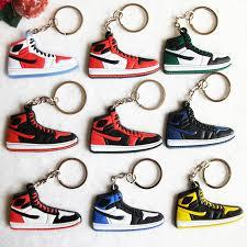color key rings images 12 color mini silicone jordan 1 keychain bag charm woman men kids jpg