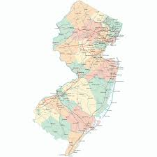 Ny State Road Map by State Map Of New Jersey Free Printable Maps