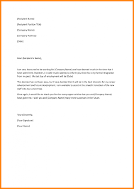 general resume casual resignation letter cover letter and